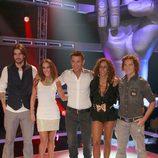 Jesús Vázquez y los 'coaches' de 'La Voz', el nuevo programa de Telecinco