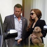 Lady Gaga con su nuevo look de morena