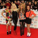 El grupo Little Mix en los National Television Awards 2012