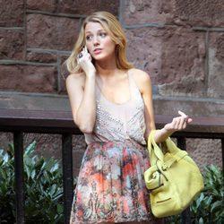 Blake Lively rodando la sexta temporada de 'Gossip Girl'