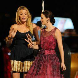 Blake Lively y Leighton Meester rodando la sexta temporada de 'Gossip Girl'