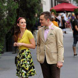 Ed Westwick y Leighton Meester rodando la sexta temporada de 'Gossip Girl'