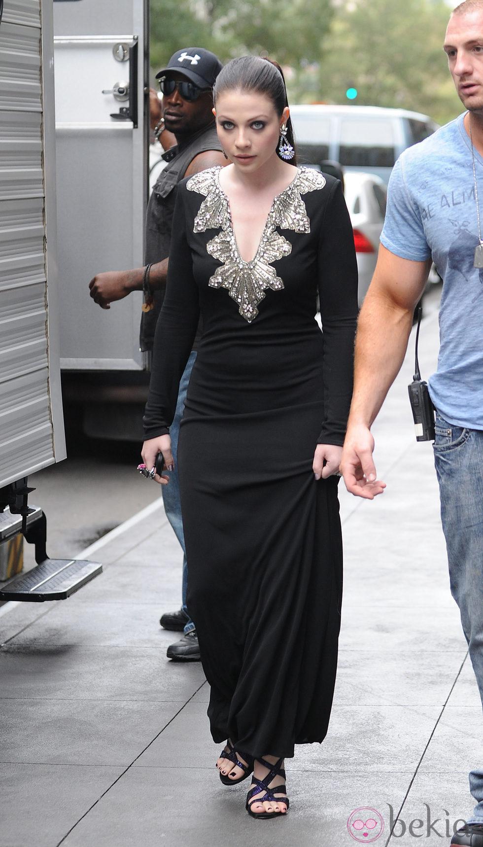 Michelle Trachtenberg durante el rodaje de la sexta temporada de 'Gossip Girl'