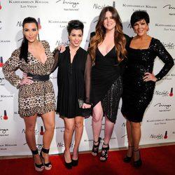 Kourtney, Kim y Khloe Kardashian y Kris Jenner en Las Vegas