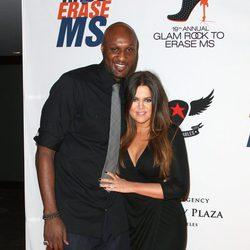 Khloe Kardashian y su marido Lamar Odom