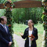 Los Príncipes de Suecia en la inauguración del 'sendero del amor'