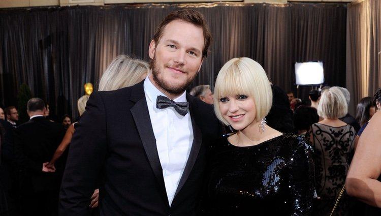 Anna Faris y su marido Chris Pratt en Hollywood