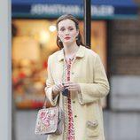 Leighton Meester fotografiada en un momento del rodaje de la sexta temporada de 'Gossip Girl'