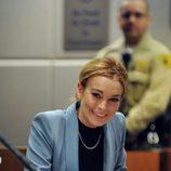 Lindsay Lohan declarando en la corte de Los Ángeles