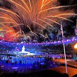 Espectáculo de luz y fuegos artificiales en la apertura de los Juegos Paralímpicos de Londres 2012