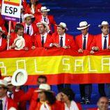 La delegación española desfilando en la apertura de los Juegos Paralímpicos de Londres 2012