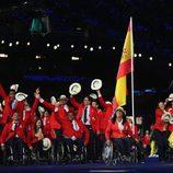 La abanderada de España y la delegación en la apertura de los Juegos Paralímpicos de Londres 2012