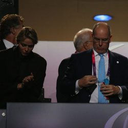 Los Príncipes de Mónaco en la ceremonia de apertura de los Juegos Paralímpicos de Londres 2012