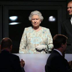 La Reina Isabel y el Príncipe Eduardo en la apertura de los Juegos Paralímpicos de Londres 2012