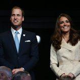 Los Duques de Cambridge en la apertura de los Juegos Paralímpicos de Londres 2012