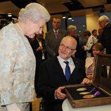La Reina Isabel con Sir Philip Craven en la apertura de los Paralímpicos de Londres 2012