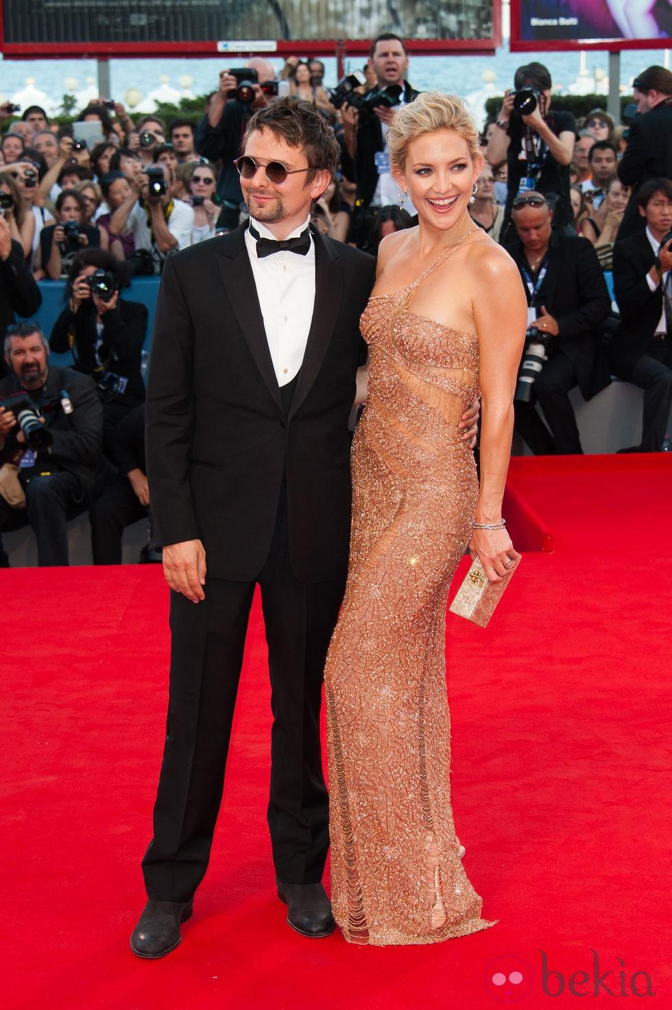 Kate Hudson y Matt Bellamy en la apertura de la Mostra de Venecia 2012