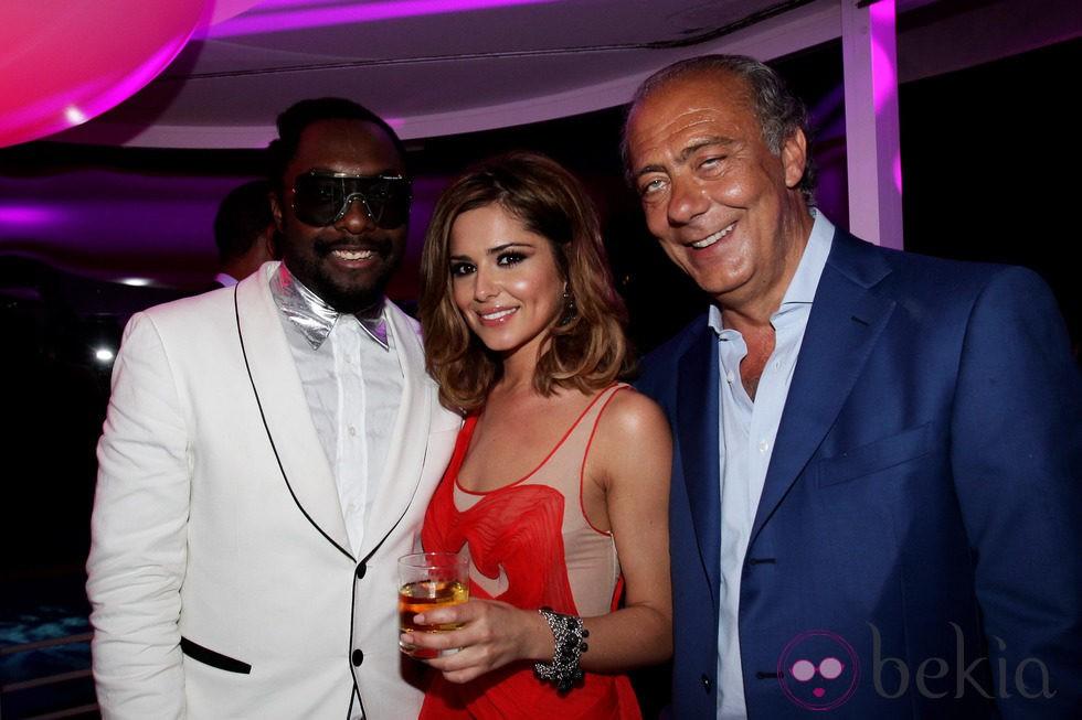 Cheryl Cole, Will.i.am y Fawaz Gruosi de fiesta en Francia en el 2010