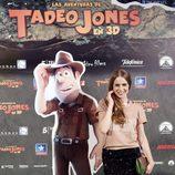 Carla Nieto en el estreno de 'Las aventuras de Tadeo Jones'