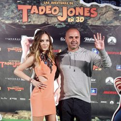 Juan Magán y Belinda en el estreno de 'Las aventuras de Tadeo Jones'