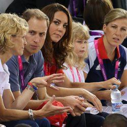 Los Duques de Cambridge, la Condesa de Wessex y su hijo en los Paralímpicos de Londres 2012