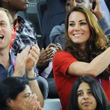 Los Duques de Cambridge aplaudiendo en los Juegos Paralímpicos de Londres 2012