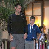 El Duque de Palma y Juan Urdangarín en el Real Club de Tenis Barcelona