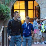 Iñaki y Juan Urdangarín a la salida del Real Club de Tenis Barcelona