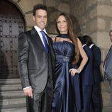 Yola Berrocal y Carlos Casaña en la boda de Toño Sanchís