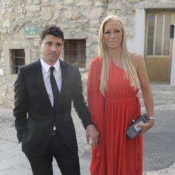 Belén Esteban y Fran Álvarez en la boda de Toño Sanchís
