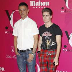 David Delfín y Pelayo Díaz en la fiesta Yo Dona de la Fashion Week Madrid