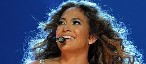 Jennifer Lopez, radiante durante un concierto en Miami