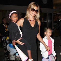 Heidi Klum con sus hijos Lou Samuel y Leni