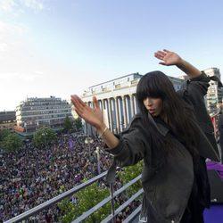 Loreen es recibida por sus miles seguidores en Suecia