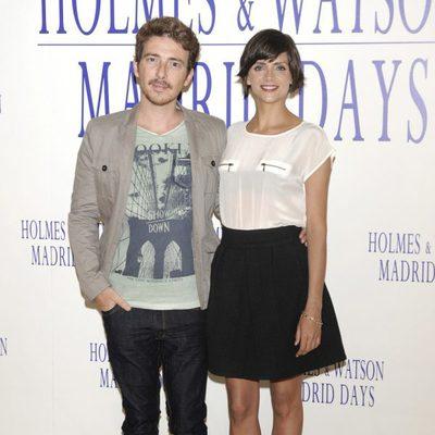 Víctor Clavijo y Macarena Gómez en la presentación de 'Holmes & Watson: Madrid days'