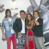 Melendi, Jesús Vázquez, Malú y David Bisbal presentan 'La Voz' en el FesTVal de Vitoria 2012