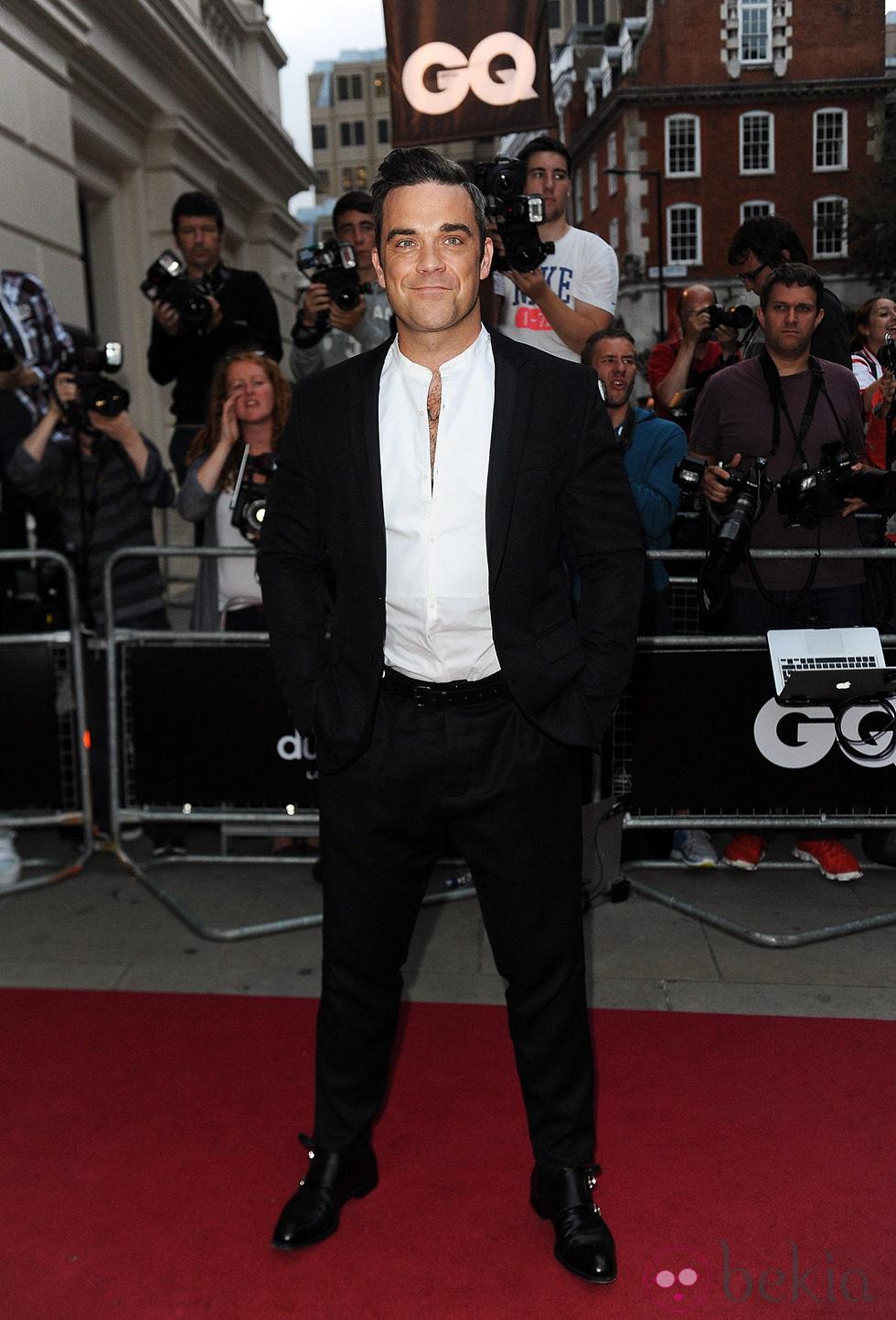 Robbie Williams en los Premios GQ Hombres del Año 2012 en Londres