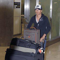 Julio José Iglesias en el aeropuerto de Barajas