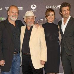 Lluís Homar, Pepe Sancho, Nathalie Poza y Jesús Olmedo en el estreno de 'Imperium' en el FesTVal de Vitoria 2012