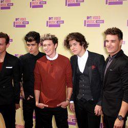 La banda One Direction en los MTV Video Music Awards 2012