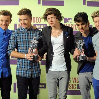 El grupo One Direction en los MTV Video Music Awards 2012
