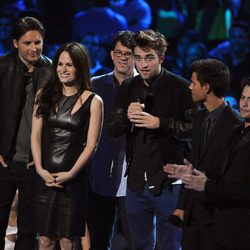 Robert Pattinson, Taylor Lautner y Jackson Rathbone en los MTV Video Music Awards 2012