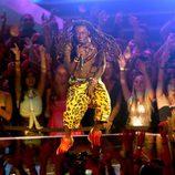 Lil Wayne actuando en la gala de los MTV Video Music Awards 2012