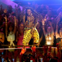 Lil Wayne actuando en la gala de los MTV Video Music Awards 2012