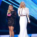 Demi Lovato y Rita Ora en la gala de los MTV Video Music Awards 2012