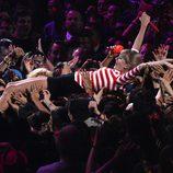 Taylor Swift durante su actuación en los MTV VMA 2012