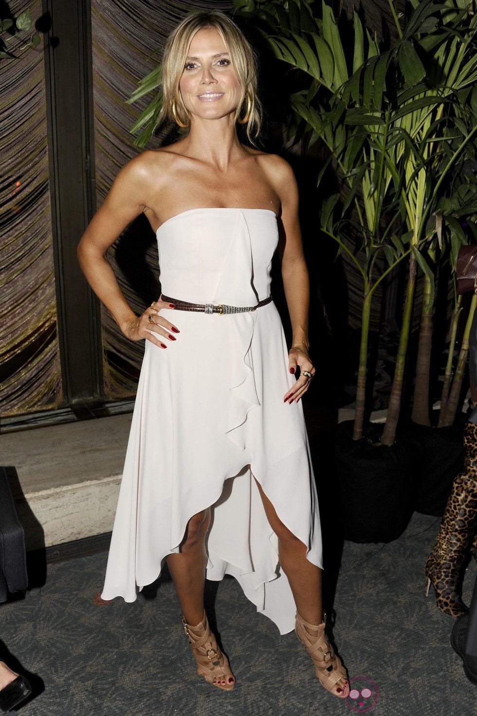 Heidi Klum en la inauguración de la tienda de Brian Atwood
