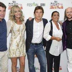 Arturo Valls, Anna Simón, Manel Fuentes, María del Monte y Santiago Segura en el FesTVal de Vitoria 2012