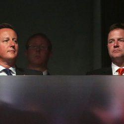 David Cameron y Nick Clegg en la clausura de los Juegos Paralímpicos de Londres 2012