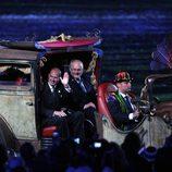 El Príncipe Eduardo y Sir Phillip Craven en la clausura de los Juegos Paralímpicos de Londres 2012